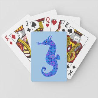 Blåttseahorseblått Spel Kort