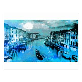 Blåttsilke i italienare vykort