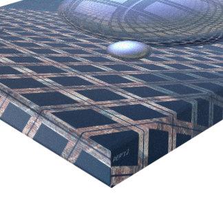 BlåttSpheres som inramas i utrymme Canvastryck