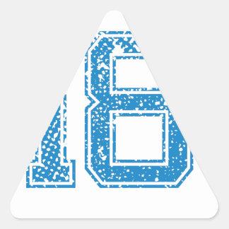 Blåttsportar Jerzee numrerar 18 Triangelformat Klistermärke