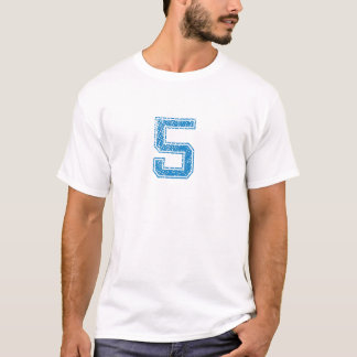 Blåttsportar Jerzee numrerar 5 T Shirts