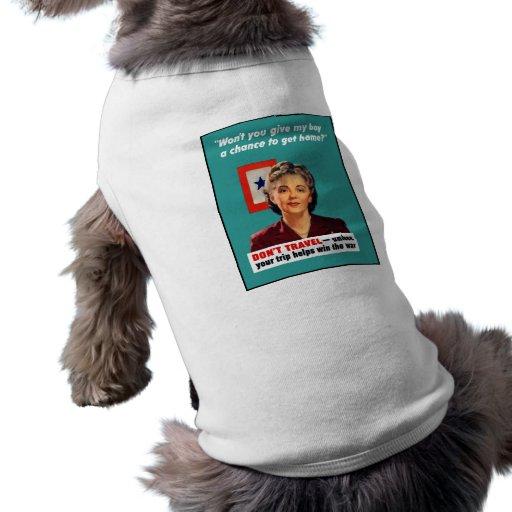 Blåttstjärnamor -- Världskrig II Djur Tee Shirt