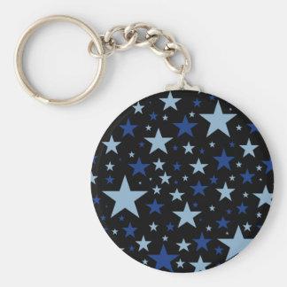 Blåttstjärnanyckelringen, väljer stil rund nyckelring