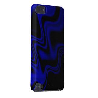 Blåttsvarten vågigt abstrakt iPod touch 5G fodral