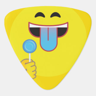 Blåtttunga Emoji Plektrum