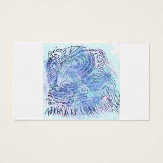 Blåttugglaakvarell Visitkort