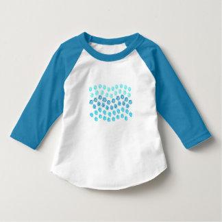 Blåttvågar 3/4 sleevesmåbarnT-tröja Tee