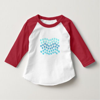 Blåttvågar 3/4 sleevesmåbarnT-tröja Tröja