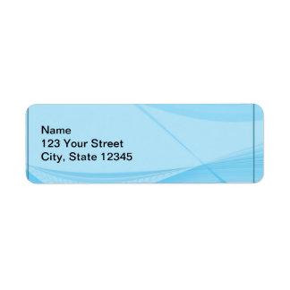 Blåttvågar Returadress Etikett