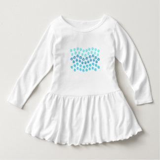 Blåttvågarsmåbarn rufsar klänningen tee shirt