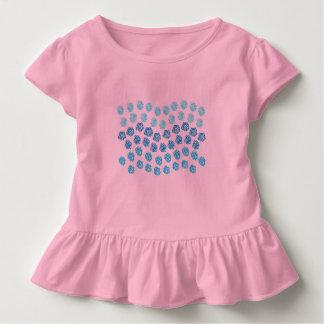 Blåttvågarsmåbarn rufsar T-tröja Tshirts