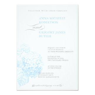 Blåttvanlig hortensia 12,7 x 17,8 cm inbjudningskort