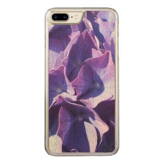 Blåttvanlig hortensia blommar tätt upp fotoet carved iPhone 7 plus skal