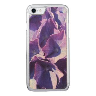 Blåttvanlig hortensia blommar tätt upp fotoet carved iPhone 7 skal