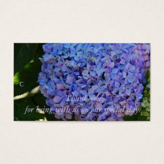 Blåttvanlig hortensia tackar dig gåvamärkren visitkort