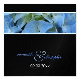 Blåttvanlig hortensia/wedding inbjudningar