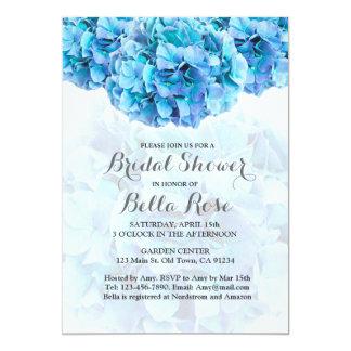 Blåttvanlig hortensiamöhippan inviterar hydrangea3 12,7 x 17,8 cm inbjudningskort