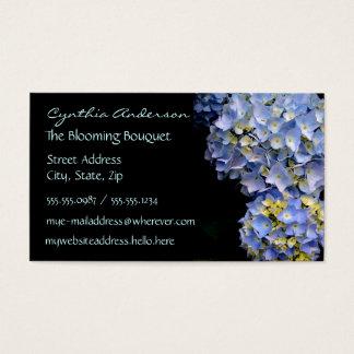 Blåttvanlig hortensiavisitkortar visitkort
