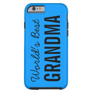 Blåttvärlds beställnings- iPhone 6 för bäst mormor Tough iPhone 6 Skal
