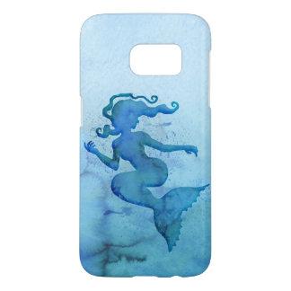 Blåttvattenfärgsjöjungfru Galaxy S5 Skal