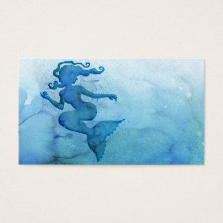 Blåttvattenfärgsjöjungfru Visitkort