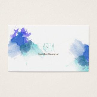 Blåttvattenfärgvisitkort Visitkort