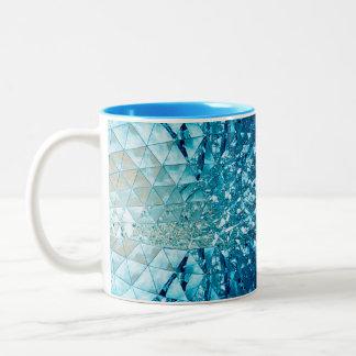 Blåttvattenkristaller Två-Tonad Mugg