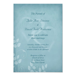 Blåttvintage bröllop 12,7 x 17,8 cm inbjudningskort