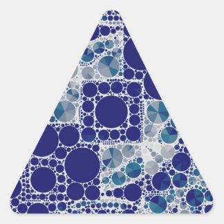 Blåttvit Bling Triangelformat Klistermärke