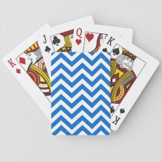 Blåttvitsparren fodrar mönster som leker kortet spelkort