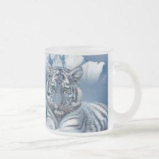 Blåttvittiger Frostad Glas Mugg