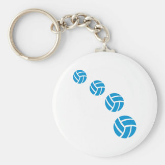 Blåttvolleybollar Rund Nyckelring