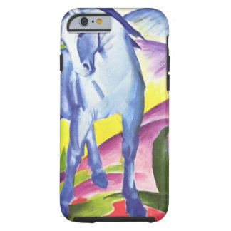 Blaues Pferd mig vid snäckan för fodral för Franz Tough iPhone 6 Skal
