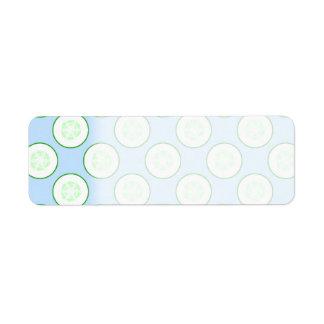 Blek - blått- och gröntgurkamodell returadress etikett