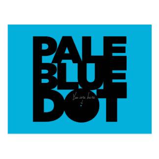 Blek - blått vykort