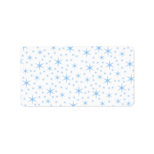 Blek - blåttstjärnamodell adressetikett