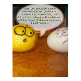 Blek citron vykort