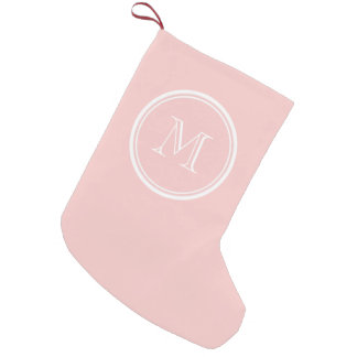 Blek - den rosa kicken avslutar den kulöra small christmas stocking