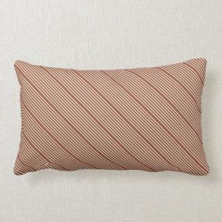 Blek för naturliga färger för randar brun - grönt lumbarkudde