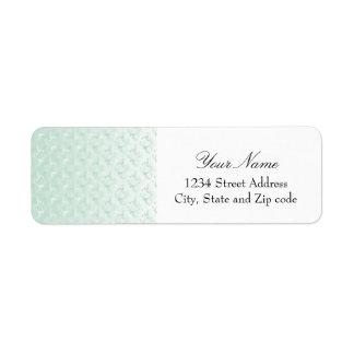 Blek - grön damastast design returadress etikett