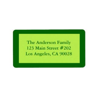 Blek - grön gräns adressetikett