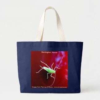 Blek - grön gräshoppa, Stonington, Maine Jumbo Tygkasse
