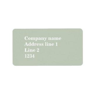 Blek - grönt adressetikett