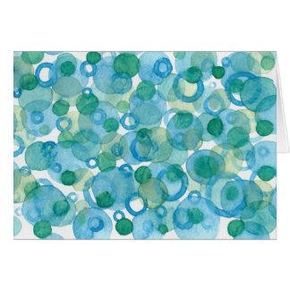 Blek - grönt- och blåttakvarellen cirklar OBS kort