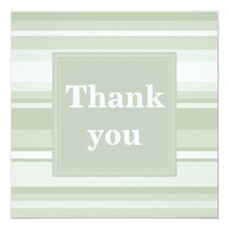 Blek - gröntrandar tackar dig att card fyrkantigt 13,3 cm inbjudningskort