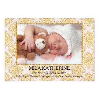 Blek - meddelande för födelse för 8,9 x 12,7 cm inbjudningskort