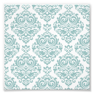 blek mint, vintagedamaster, victorian, blommigt, fototryck
