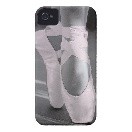 Blek - rosa balett skor iPhone 4 skal