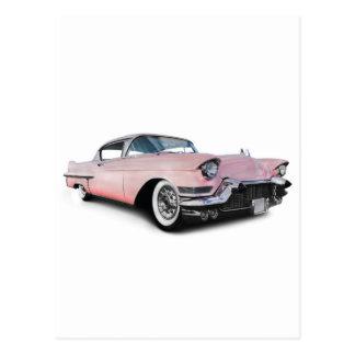Blek - rosa Cadillac Vykort