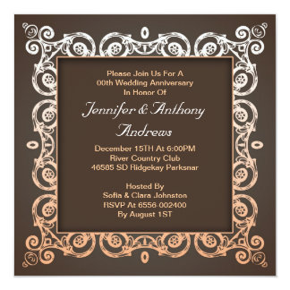 blek - rosa elegant bröllopårsdag fyrkantigt 13,3 cm inbjudningskort